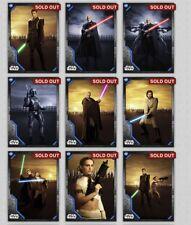 Topps Star Wars Digital Card Trader Attack Of The Clones Light Dark Set + Award