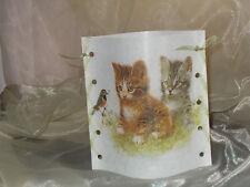 1 Deko Windlicht Katze Katzen Vogel Shabby Tischlicht Mitbringsel