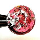 Swirlback Paperweight Cute Mold  Silver Foil Antique Charmstring Glass Button