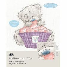 DMC Me to You Tatty Teddy Printed Cross Stitch Fabric Kit - Cupcake