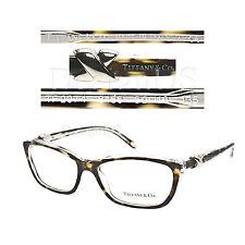 TIFFANY & CO. TF2074 8155 Tortoise 52/16/135 Eyeglasses Rx Made Italy Authentic