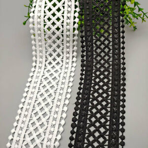 Crocheted Lace Fabric Trim Dress Clothes Sewing Edging Trimming Craft Embroidery