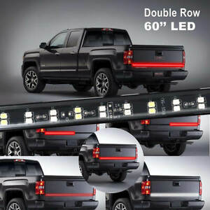 "Hi-Q 60"" 2-Row LED Truck Tailgate Light Bar Strip for Dodge Ram 1500 2500 3500"
