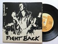 "Discharged: Fight Back: 5 Track  EP 7"" Vinyl single EX+ Free UK Post"