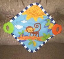 Garanimals Monkey Security Blanket Sensory Crinkle 2 Teether Corners Squeaker