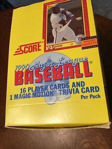 (3) 1990 Score Baseball Wax Box 36pks ea Frank Thomas Rookie Bo Jackson NEW