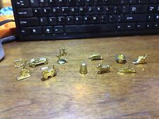 1998 Monopoly Deluxe Edition -Parts- 11 Gold Tokens