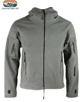 Gunmetal Grey Recon Tactical Fleece Hoody Military Forces Airsoft Army Security