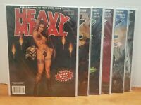 Lot of 6 Heavy Metal 2000's Adult Comic Fantasy Magazines Bagged & Boarded