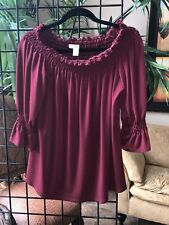 Sejour Women's 1X Red off the shoulder top