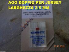 AGO DOPPIO DA 2,5 mm SCHMETZ - MACCHINE MACCHINA DA PER CUCIRE SINGER- NECCHI