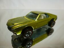 HOT WHEELS RED LINE 1:64 - CUSTOM AMX 1968 - LIME  YELLOW   - GOOD CONDITION.