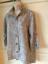 SOFT SURROUNDINGS  Gray Floral Button Front Shirt/Top-NEW- SZ M,PL,1X,2X