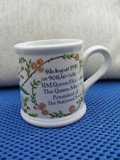 NATIONAL TRUST QUEEN MOTHER 90 th BIRTHDAY  MUG