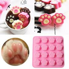 16 Cavity Cake Mould Paw Print Silicone Chocolate Candy Soap Mold Ice Cube Tray