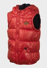 Minoti Boys Hooded Padded Gilet Bodywarmer Jacket Red Size 18-24 months