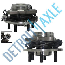 Set of 2 Front Driver and Passenger Wheel Hub and Bearing 4WD 4x4 6 Bolt w/ABS