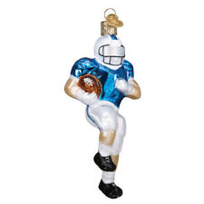 American Football Player Glass Christmas Bauble