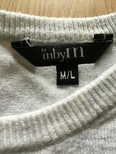 MbyM Danish Long Sleeve Light Grey Top Zip Up Ladies Jumper Light Grey M/L