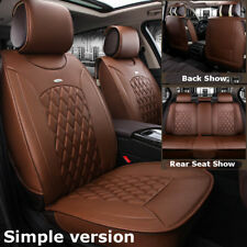 Simple Car Microfiber Leather Seat Covers For Nissan Altima Sentra Rogue Coffee