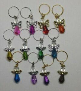 5 or 20pc Bright Metallic Colors Guardian Angel Keychain/ Zipper Pull/ Charm