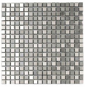 Mosaic Tiles - METALIC SILVER 301X301mm