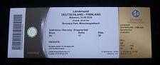Original Ticket    31.08.2016    DEUTSCHLAND - FINNLAND  !!  SELTEN