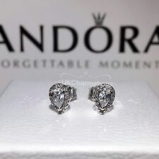 New Genuine Pandora Radiant Teardrops Stud Earrings 296252CZ With Gift Pouch