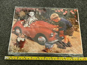 AUSTIN J40 PEDAL CAR PUZZLE BIRTHDAY GREETINGS COLLECTABLE