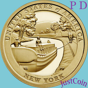2021 P&D NEW YORK (NY) INNOVATION DOLLARS TWO GOLDEN UNCIRCULATED DOLLARS SET