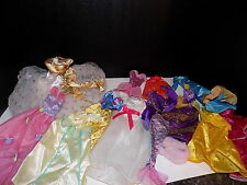 large lot PIECE LOT OF BARBIE SIZE DOLL CLOTHING ITEMS~SPARKLING GOWNS DRESSES
