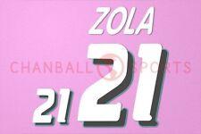 Zola #21 1994 World Cup Italy Homekit Nameset Printing