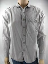 Enyce Men's Gray Long-Sleeve Button-Down Shirt Size Large