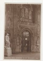 Entrance To St Stephens Hall Houses of Parliament London RP Postcard 297a