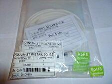 Job Lot Qté 8 x Excel 200-557 OM2 2 m ST Pigtail 50/125 2mtr, Blanc, Nouveau