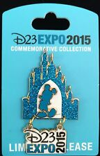 DISNEY PIN D23 EXPO LOGO PIN MICKEY MOUSE CASTLE DIAMOND 60TH LIMITED RELEASE