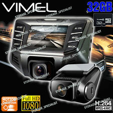 Twin Dashcam Dual Camera In Car Cam B70S Plus NTK 96655 Crashcam Blackbox 1080P