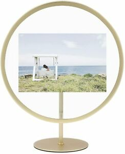 Umbra Infinity Floating 5x7 Picture Frame, Brass (1012272-221)