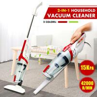 Corded Stick Vacuum Cleaner Handheld Handstick 15000PA HEPA 4-Wheel Brush Vac