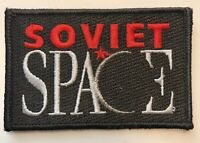 Soviet Space Embroidered Astronaut Black & Red Patch Russia Vintage