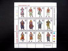ALBANIA 2003 Costumes Sheetlet of 12 FP9599
