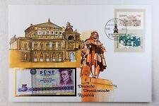 Banknotenbriefe aus aller Welt 1975 - DDR, Semperoper - 5 Mark - bankfrisch