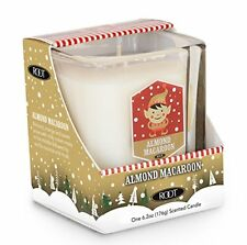 Root Candles Christmas Candle ALMOND MACAROON Limited Ed Glass Cube Jar Beeswax