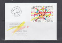 Switzerland Sc 1012-1015 FDC. 1998 Swiss Bicentennial, se-tenant block, VF