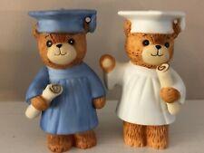 Vintage Lucy And Me Figurine Pair 1981 82 Graduate Blue White Graduation