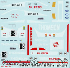 Decal sheet 1/43 Ferrari 512BB Pozzi #88 Le Mans 1978 Andruet/Dini NEW