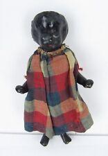 1850s Black Frozen Charlotte China Doll Americana Girl Bathing Germany Antique