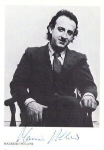 Pianist Maurizio Pollini, autographs program, VPO Vienna 1982