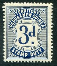 New Guinea Very Nice Mint Never Hinged 3d Revenue Stamp Ag