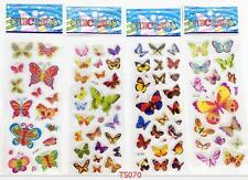 3d Children'S Cartoon Butterfly Stereoscopic Puffy Stickers-Lot Of 4 Kids Gift A
